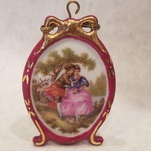 Limoges Fragonard Mini Courting Couple in Garden